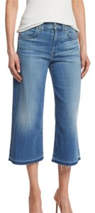 7 For All Mankind Capri/Cropped Pants Sky Blue Twill