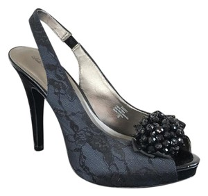 Lulu Townsend Navy with black lace detail Formal