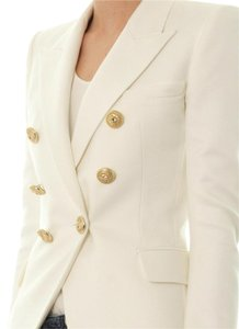 Balmain Balmain Double Breasted Basketweave Cotton Blazer