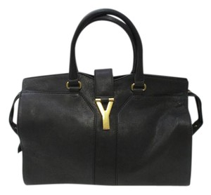 Saint Laurent St Laruent Ligne Dark Satchel in Gray