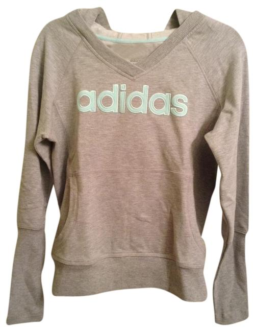 Preload https://img-static.tradesy.com/item/20900354/adidas-grey-with-tiffany-blue-logo-sweatshirthoodie-size-10-m-0-1-650-650.jpg