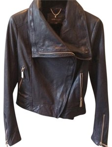 BCBGMAXAZRIA navy Leather Jacket