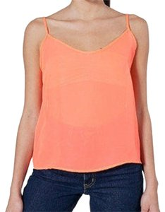American Apparel Chiffon Lightweight Top Neon Orange