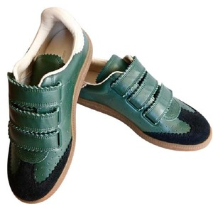 Isabel Marant Designer Leather Sneakers Athleisure Luxury Green Athletic