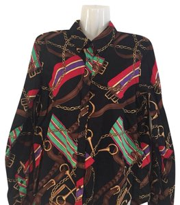 Lauren Ralph Lauren Button Down Shirt multi, brown, gold, green