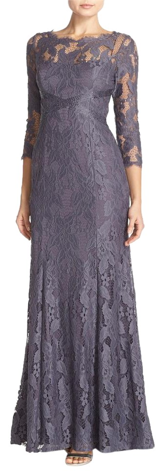 Adrianna Papell Purple Lace A-line Long Formal Dress Size 8 (M ...