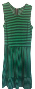 Madewell short dress Green & Black Striped Fit And Flare Everyday on Tradesy