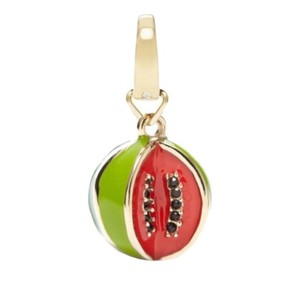 Fossil Fossil Goldtone Red + Green Watermelon Charm