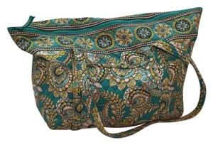 Vera Bradley Tote in green and teal