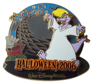 Disney DISNEY PIN Figment and Spaceship Earth, Halloween 2006 Haunted Parks