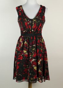 Cynthia Steffe Floral Flowy Red Dress