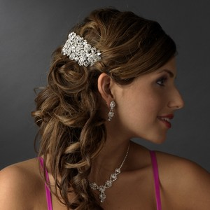 Elegance By Carbonneau Barrette 5190 Silver Clear