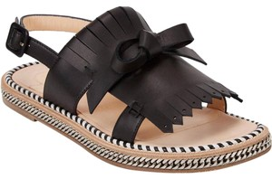 Christian Louboutin Flat Costa Nada Chain Black Sandals