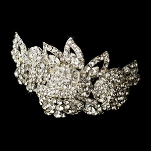 Elegance By Carbonneau Barrette 5100 Silver Clear