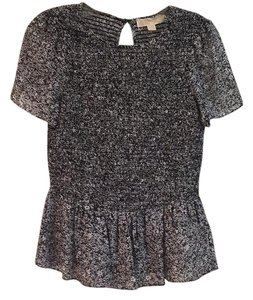 Michael Kors Top Navy and white