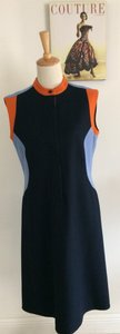Harvé Benard short dress Navy Blue, Light Blue, Orange on Tradesy