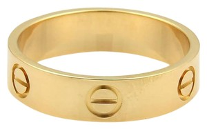 Cartier Cartier Love 18k Yellow Gold 6mm Wide Band Ring Size EU 60-US 9 w/Cert