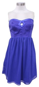 W118 by Walter Baker Blue Cobalt Cutout Chiffon Royal Dress