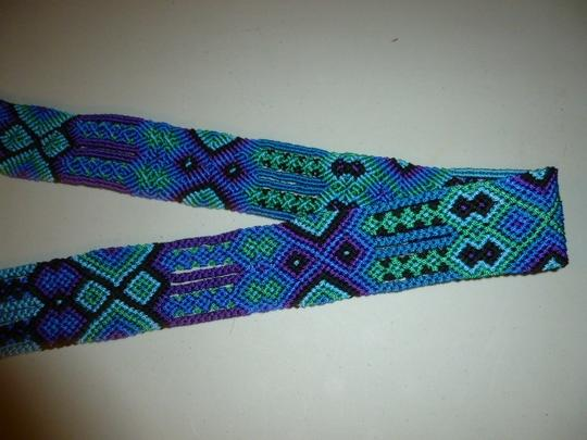 Other Womens Colorful Woven Braided Tie Belt L XL Large Extra Large Image 1