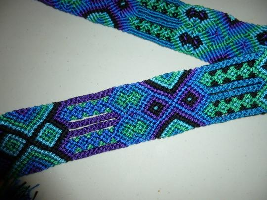 Other Womens Colorful Woven Braided Tie Belt L XL Large Extra Large Image 2
