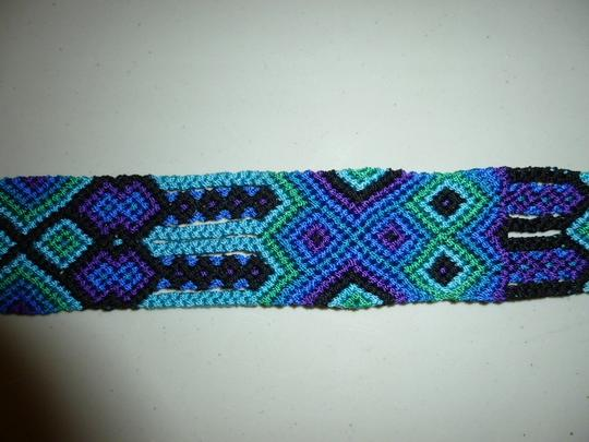 Other Womens Colorful Woven Braided Tie Belt L XL Large Extra Large Image 3