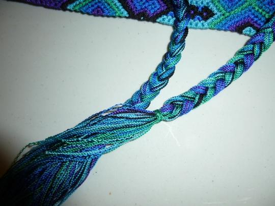 Other Womens Colorful Woven Braided Tie Belt L XL Large Extra Large Image 6