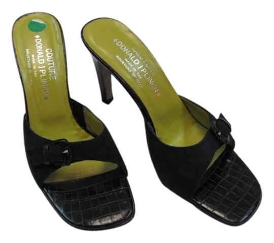Donald J. Pliner Couture Leather Size 8 Narrow black Sandals