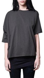 OAK Unisex Cropped Nyc Cotton T Shirt Gray