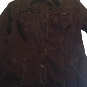 CAbi Burgundy Womens Jean Jacket