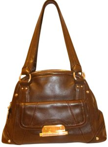 B. Makowsky Refurbished X-lg Leather Multi-pocket Hobo Bag