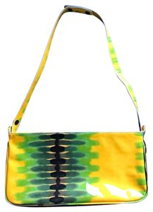 Via Spiga lemon/lime Clutch