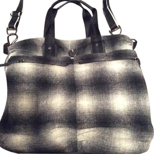 baf6874241 Lululemon None Black Gray White Plaid Material Than Can Be Washed  Weekend/Travel Bag