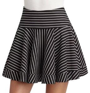 Torn by Ronny Kobo Mini Skirt Black, White