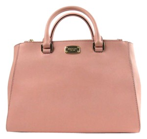 Michael Kors Saffiano Satchel in PINK