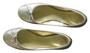 J.Crew Gold Ballet Italian Leather Pale gold Flats