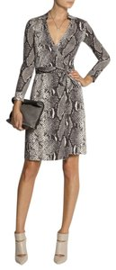 Diane von Furstenberg Wrap Dvf Silk Julian Snakeskin Dress
