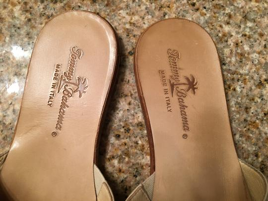 Tommy Bahama Beige and Green Sandals