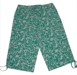 Style & Co Capris Green and White
