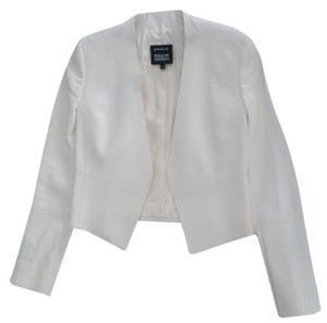 Akris Leather Leather Blazer Leather Creamy Off White Leather Jacket