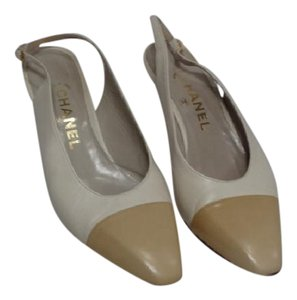 Chanel Two Tone Beige & Tan Pumps