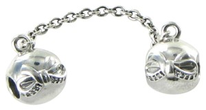 PANDORA 791780CZ Safety Chain Dainty Bow Cubic Zirconia Sterling Silver