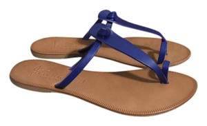 Joie Leather Made In Italy Toe Ring Cobalt Flats