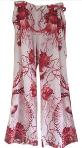 Roberto Cavalli Wide Leg Pants red and white