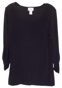 Chico's Travelers Knit Tunic Long Medium Top Black