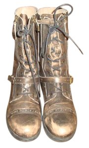 ALDO Brown Distressed Leather Boots