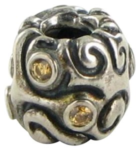 PANDORA 790548CZM Charm Bead Daydream Honey Cubic Zirconia Sterling Silver