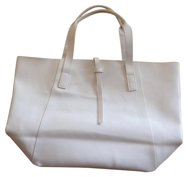 Item - Bag Large Leather White Tote
