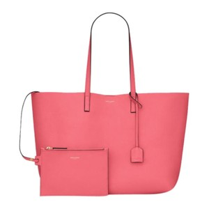 Saint Laurent Tote in Coral Pink