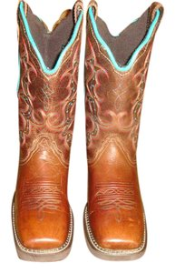 Justin Boots Brown/Turquiose Boots