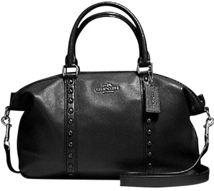 Coach Gunmetal Gray Hrdw Satchel in Black